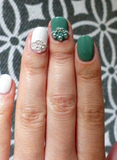 VSP/Gel : kaki et bijoux d'ongles